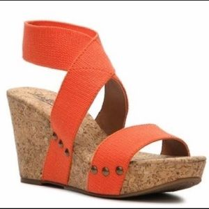 Lucky Brand Marinah Cork Wedges